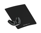 Fellowes Memory Foam Gliding Palm Support With Mouse Pad, Black - Sold as 2 Packs