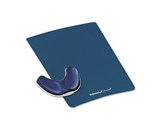Fellowes Memory Foam Gliding Palm Support With Mouse Pad, Saphire - Sold as 2 Packs