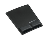 Fellowes Memory Foam Wrist Support With Attached Mouse Pad, Black - Sold as 2 Packs