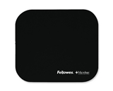 Fellowes Mouse Pad w Microban Protection, 9-X8-X1/8-, Black