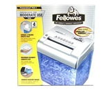 Fellowes PowerShred PDS-1 4-Sheet Confetti-cut Shredder w/Basket