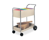 Fellowes Steel Mail Cart, 150 Legal Sized File Folder Capacity
