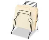 Fellowes Step File, Eight Sections, Wire, 10 1/8w x 12 1/8d x 11 7/8h, Black