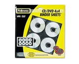 Fellowes Two-Sided CD/DVD Refill Sheets for Three-Ring Binder, 25/Pack - Sold As