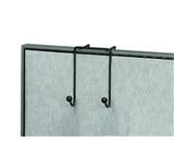 Fellowes Wire Partition Additions Double Coat Hook (75510)