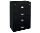 Fireking Fire-Resisting File - Lateral File - 44-1/2 X22-1/8 X52-3/4- - Black