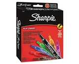 Flip Chart Markers, Bullet Tip, Eight Colors, 8/Set