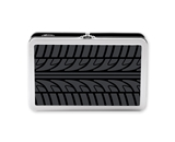Tin Pencil Box Embossed Tire - Black- Find It - FT07339