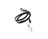 GBC BadgeMates Breakaway Lanyards with Swivel Hook, Black, 12 Lanyards per Pack (3748010)