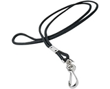 GBC BadgeMates Round Lanyard with Swivel Hook, Black, 12 per Pack (3748013A)