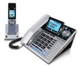 GE Corded and Cordless Answering System with Caller ID and Bluetooth Technology, Silver and Black (30784EE2)