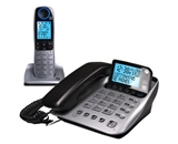 GE DECT 6.0 Corded Phone with Cordless Handset, Caller ID, Answering System Combination, and Large LCD Display (30524EE2)
