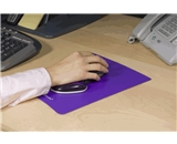 Fellowes Gliding Palm Support with Microban Protection, and Mouse Pad, Gel, Purple (9183401)