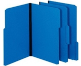 Globe-Weis Pressboard File Folders, 1-Inch Expansion, 1/3 Cut Tab, Legal Size, Dark Blue, 25-Count (61