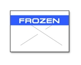 Garvey Preprinted GX1812 White/Blue Frozen Labels for a 18-6 Labeler
