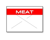 Garvey Preprinted GX1812 White/Red Meat Labels for a 18-6 Labeler