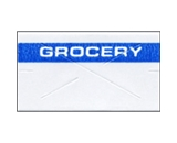 Garvey Preprinted GX2212 White/Blue Grocery Labels for a 22-6, 22-7 and 22-8 Labeler