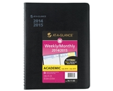 AT-A-GLANCE 2014-2015 Academic Year QuickNotes Weekly and Monthly Planner, Wirebound, Black, 8 x 9.88 Inch Page Size (76-11-05)