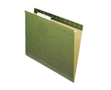 Hanging Box Bottom Folder with InfoPocket, Standard Green, Letter, 2- Cap., 25/Box (ESS4152X2)