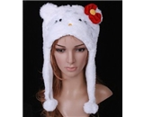 Hello Kitty Plush Animal Cartoon Hat
