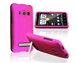 Hot Pink Snap-On Hard Rubberized Case for HTC EVO 4G Cellphone