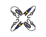 IIT 74683 Ratchet Tie Down with Round Handles 1 Inch x 15 Feet - 2 Piece