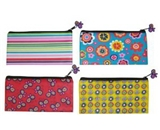 Inkology Blissful Garden Pencil Pouch with Charm Zipper Pull, 8.75 x 4.5 Inches, Single Pouch