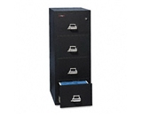 Insulated Four-Drawer Vertical File - Black Color
