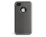 Kensington K39389US Aluminum Finish Case for Apple iPhone 4/4S - 1 Pack - Retail Packaging - Grey