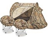 Kids- Tent and 2 Chairs by Lucky Bums - Camouflage - Great for Camping or Playing Indoors & Outdoors