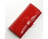 KLOUD ® Red patent synthetic leather women clutch wallet / purse / credit card holder case plus KLOUD cleaning cloth