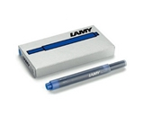 Lamy T-10 Blue Ink Cartridges Pkg 5