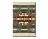 Lextra (Pendleton Khaki Chief Joseph), Coasterrug, Khaki/Burgundy/Gold, 5.5 x 3.5 Inches, Set of Four (PRC-C)
