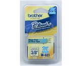 Brother M521 3/8 Inch x 26.2 Feet Black on Metallic Blue