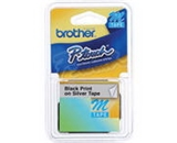 Brother M9213 0.35 Inch Black on Silver Labeling Tape