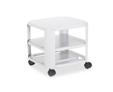 Master® - Mobile Printer Stand, 3-Shelf, 17-4/5w x 17-4/5d x 14-3/4h, Platinum - Sold As 1 Each - Stores printer under desk to free up valuable desktop space.