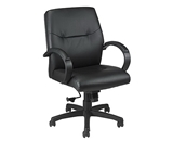 MAXX MID BACK LE450 LEATHER EXECUTIVE CHAIR