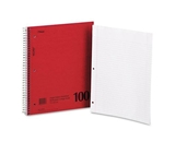 Mead 06546 Spiral Bound 1 Subject Notebook, College Rule, White, 100 Sheets