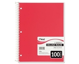 Mead 06622 Spiral Bound Notebook, College Rule, 8- x 10.5-, White, 100 Sheets