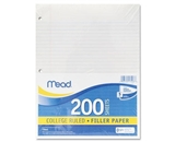 Mead 17208 Economical 15-lb. Filler Paper, College Ruled, 11 x 8.5, White, 200 Sheets per Pack