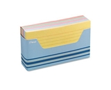 Mead Color Ruled Index Cards with Tray, 3 x 5 Inches, Assorted (63036)