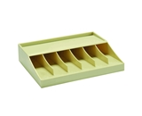 MMF Industries Bill Strap Tray Rack, 10.63 x 2.31 x 8.31 Inches, Putty (210470089)