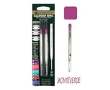 Monteverde Ballpoint Refill to Fit Parker Ballpoint Pens, Medium Point, Soft Roll, Pink, 2 per Pack (P132PK)