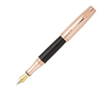 Monteverde Invincia, Rose Gold with Black Carbon Fiber Fountain Pen (MV40062)