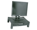 Kantek MS420 Height-Adjustable Stand with Drawer - Black