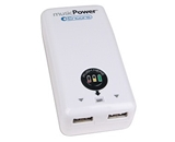 musicPower Encore 2-in-1 Dual Port USB AC Travel Power Adapter + Battery