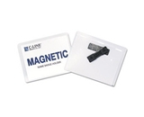 Name Badge Holder Kits, Magnetic, Top Load, 3- x4-, 20/BX