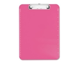 Neon Pink Transparent Plastic Clipboard, 9- x 12.5- (SPR01868)