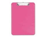 Neon Pink Transparent Plastic Clipboard, 9- x 12.5-