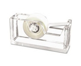 New-Kantek AD60 - Desktop Tape Dispenser, 1 core, Heavy Cast Acrylic, Clear - KTKAD60